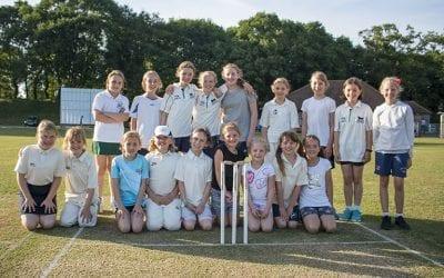First Girls' Match at Tiddington