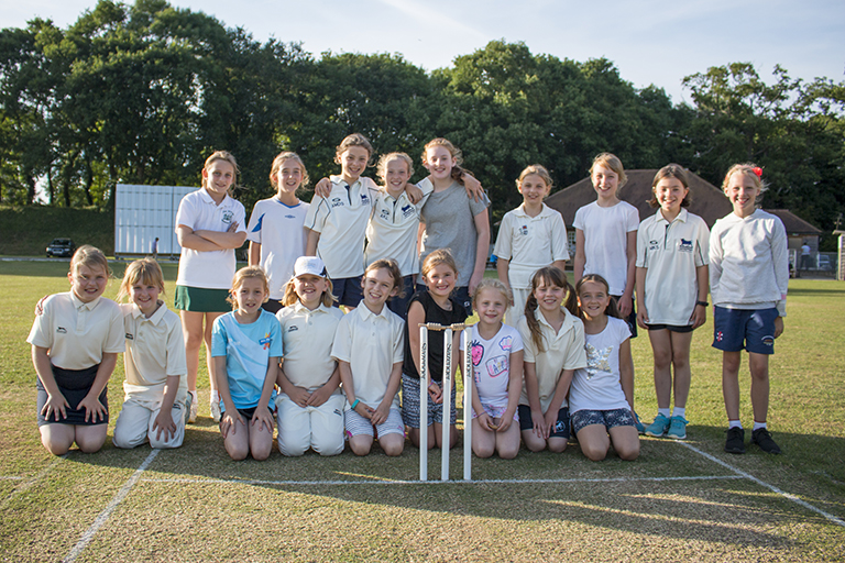 First Girls' Match at Tiddington