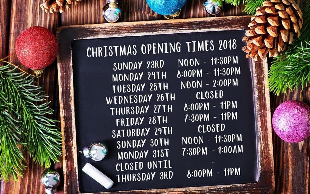 Christmas Opening 2018